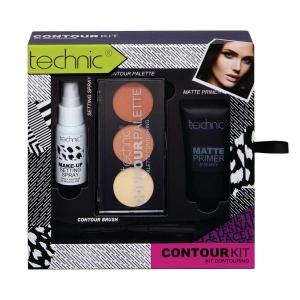 Set pentru conturare ten, 4 produse, Technic Contour Kit Palette