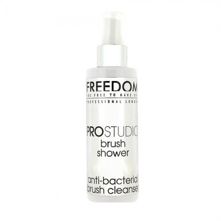 Solutie Profesionala Pentru Curatarea Pensulelor Freedom Makeup London Pro Studio Antibacterial Brush Shower, 100ml