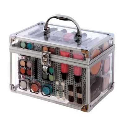 Valiza completa pentru Machiaj TECHNIC Essential Large Clear Carry Case With Cosmetics