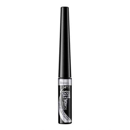 Tus de ochi lichid Rimmel London ScandalEyes Bold Waterproof, Black, 2.5 ml