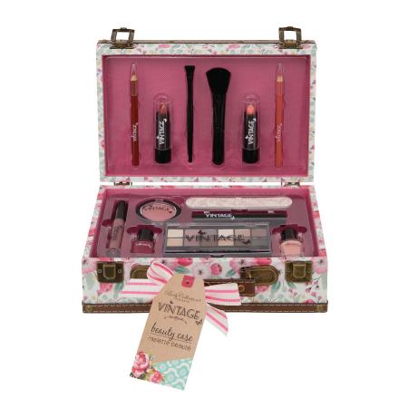 Valiza cu produse pentru machiaj Body Collection Vintage Beauty Case