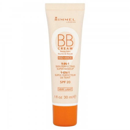 BB Cream Rimmel 9 In 1 Radiance - Very Light Skin, 30 ml