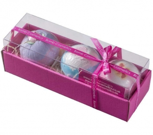 Set cadou pentru baie Bath Blasters, Bomb Cosmetics, 3 x 160 gr