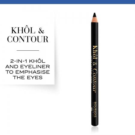 Creion de Ochi Bourjois Khol&Contour - 71 Ultra Black , 0,78 g1