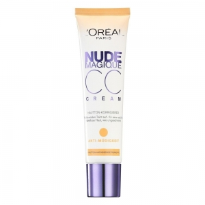 Crema corectoare anti-oboseala L'Oreal Nude Magique Anti-Fatigue CC Cream, 30 ml