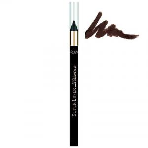 Creion de ochi L'Oreal Superliner Silkissime 24h Waterproof - 02 Brown Temptation0