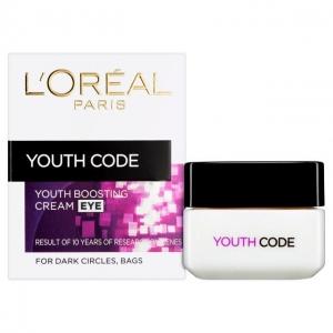 Crema antirid Codul Tineretii pentru conturul ochilor L'Oreal Youth Code Eye, 15 ml