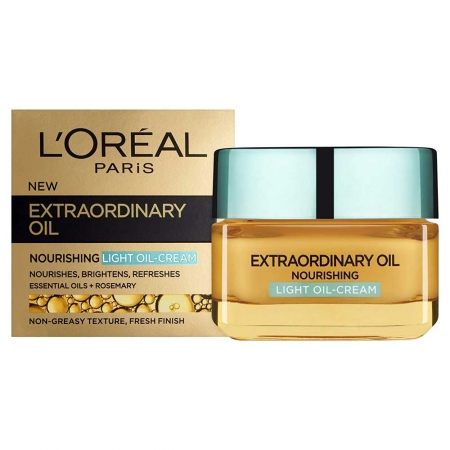 Crema De Fata Hidratanta Si Iluminatoare L'oreal Extraordinary Oil Light Oil Cream, 50 ml