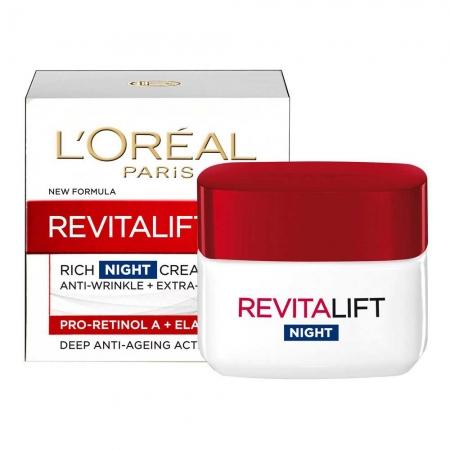 Crema De Noapte Anti Rid L'oreal Revitalift Intensive Action, 50 ml