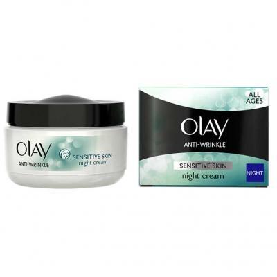 Crema de Noapte Antirid pentru Ten Sensibil OLAY Anti-Wrinkle Sensitive Skin, 50 ml