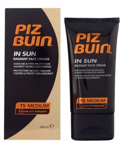 Crema de Fata Piz Buin In Sun Radiant Cream cu SPF 15 , 40 ml