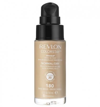 Fond De Ten Revlon Colorstay Dry Skin Cu Pompita - 180 Sand Beige, 30ml