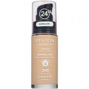 Fond De Ten Revlon Colorstay Dry Skin Cu Pompita - 200 Nude, 30 ml