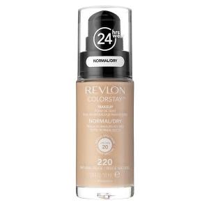 Fond De Ten Revlon Colorstay Dry Skin Cu Pompita - 220 Natural Beige, 30ml