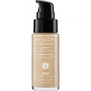 Fond De Ten Revlon Colorstay Dry Skin Cu Pompita - 250 Fresh Beige, 30 ml