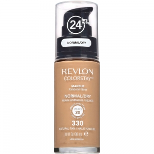 Fond De Ten Revlon Colorstay Dry Skin Cu Pompita - 330 Natural Tan, 30ml