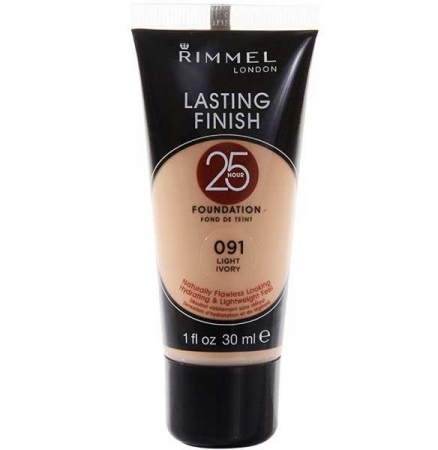 Fond De Ten Rimmel London Lasting Finish 25 Hr, 091 Light Ivory, 30 ml0