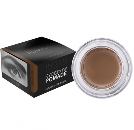 Gel Profesional pentru Sprancene INGRID Eyebrow Pomade Waterproof, Brown, 5g