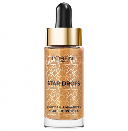 Iluminator lichid L'Oreal Paris Star Highlighting Drops, Warm Gold 15 ml
