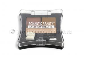 Kit de Sprancene Romantic Beauty cu 3 Pudre pentru Definire - 03 Light0