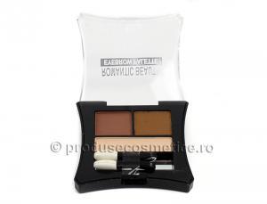 Kit de Sprancene Romantic Beauty cu 3 Pudre pentru Definire - 03 Light1