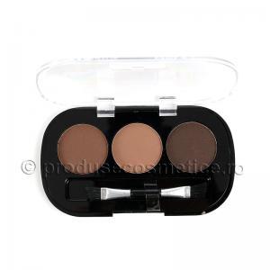 Kit de Sprancene Ushas EyeBrow cu 3 Pudre pentru Definire - 03 Medium0