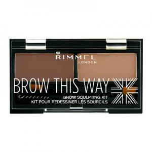 Kit de Sprancene Rimmel Brow This Way - 002 Medium Brown0