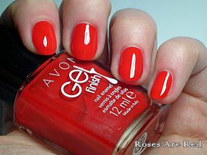 Lac de Unghii AVON Gel Finish 3 in 1 - Roses Are Red1