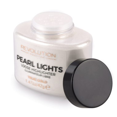 Iluminator Pulbere MAKEUP REVOLUTION Pearl Lights Loose Highlighter - True Gold, 42g1
