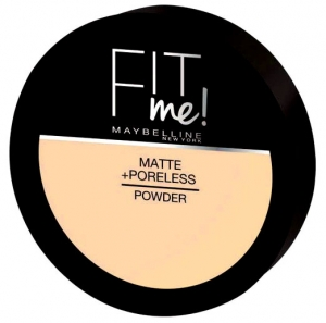 Pudra compacta matifianta Maybelline New York Fit Me Matte & Poreless Pressed Powder - 130 Buff Beige, 14 gr