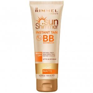 Lotiune Autobronzanta Rimmel Sun Shimmer Instant Tan BB 9 In 1 Wash Off - Light Matte, 125 ml