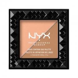 Paleta Pentru Conturarea Fetei Nyx Professional Makeup Cheek Contour Duo - Two To Tango, 2.5 gr