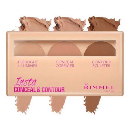 Paleta Conturare si Corectare RIMMEL Concealer Insta Conceal & Contour, 020 Medium, 8.4 g