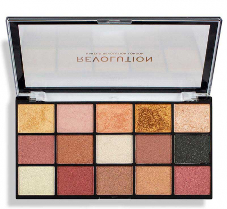Paleta de farduri Makeup Revolution - Re-Loaded Palette - Affection, 15 Nuante