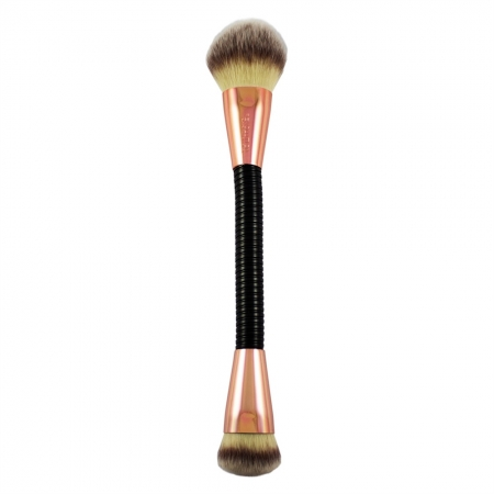 Pensula Flexibila Pentru Contur Si Iluminare Makeup Revolution FLEX, 02 Highlight & Contour