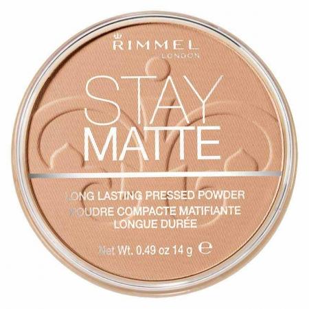 Pudra matifianta rezistenta la transfer Rimmel Stay Matte, 018 Creamy Beige, 14 gr