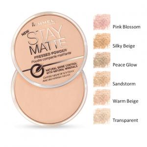 Pudra Compacta Rimmel Stay Matte - 005 Silky Beige1