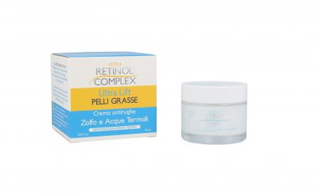 Crema antirid pentru Piele Grasa cu SULF si Apa Termala, Ultra Retinol Complex, 50 ml