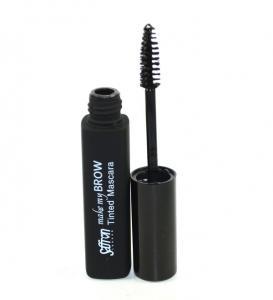 Rimel pentru conturarea sprancenelor SAFFRON Make My Brow Tinted Mascara - Black, 8ml