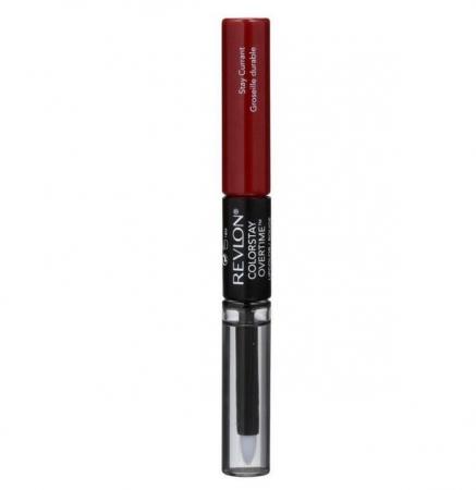 Ruj Rezistent Revlon ColorStay Overtime, 280 Stay Currant, 2ml + Top Coat, 2ml