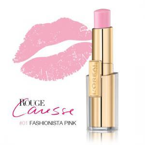 Ruj L'oreal Caresse - 01 Fashionista Pink0