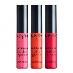 Set De 3 Luciuri De Buze  Nyx Professional Makeup Intense Butter Gloss - 06