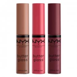 Set de 3 Luciuri De Buze Nyx Professional Makeup Butter Gloss - 10
