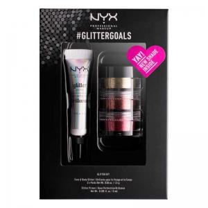 Kit cu 3 Nuante Glitter Nyx Professional #GlitterGoals 02, 10 gr