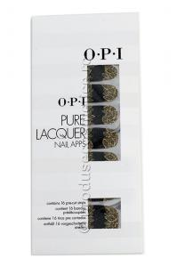 Pachet 16 Abtibilduri Pentru Unghii OPI Pure Lacquer - Gold Lace