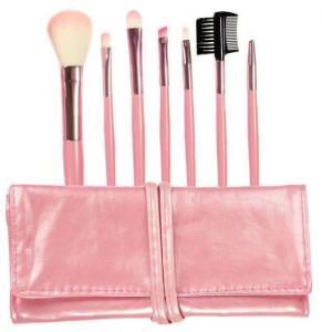 Set 7 Pensule Profesionale Luxury pentru Machiaj - Pink Addicted