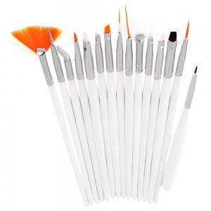 Set 15 Pensule Profesionale Nail Art pentru Pictura Unghiilor - White0