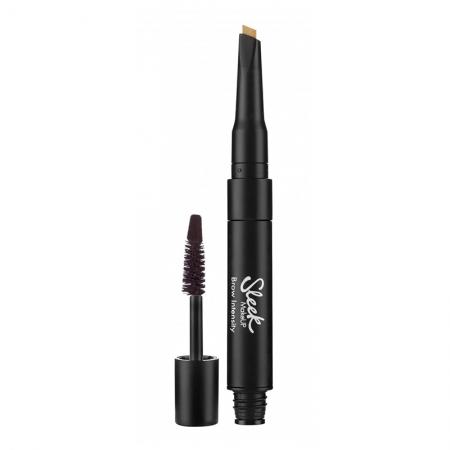 Creion si Mascara pentru Sprancene Sleek MakeUP Brow Intensity, Extra Dark