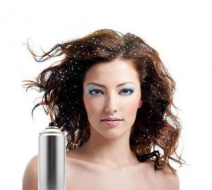 Spray Cu Sclipici Pentru Par Si Corp Party Succes - Silver, 125 ml1