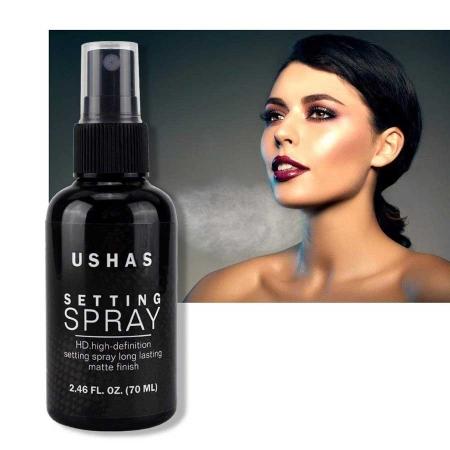 Spray Matifiant Pentru Fixarea Machiajului Ushas Setting Spray HD, 70 ml4